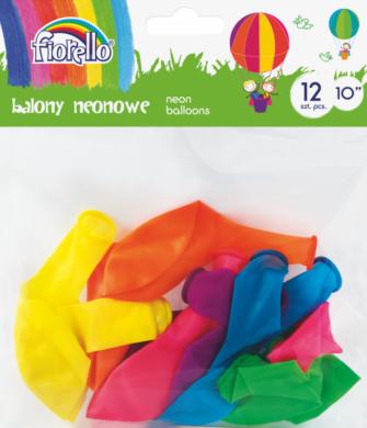 """balónky  12ks Fiorello neon mix 10"""" 170-2452(5903364264598)"""
