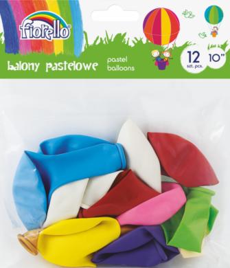 "balónky  12ks Fiorello pastel mix 10"" 170-2453(5903364264604)"