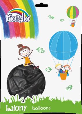 """balónky 100ks Fiorello  černé metalic 10"""" 170-2501(5903364264710)"""
