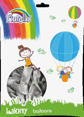 "balónky 100ks Fiorello  stříbrné 10"" 170-2502(5903364264727)"