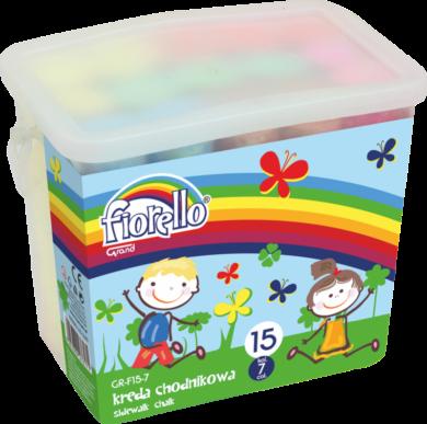 křídy Fiorello barevné chodníkové 15ks 170-2295(5903364276171)