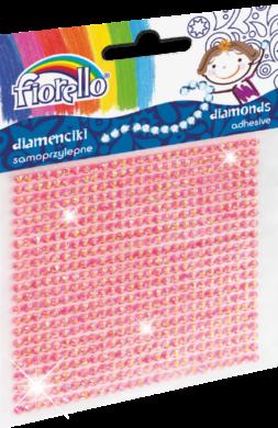 kamínky perličky 170-2400 samolepící růžové(5903364278564)