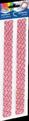 samolepky kamínky 170-2462 růžové tmavé(5903364278885)