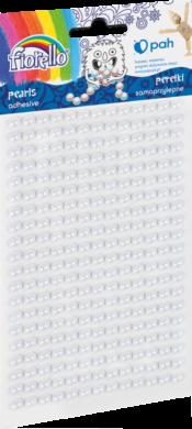 kamínky perličky 170-2575 samolepící bílé(5903364279967)