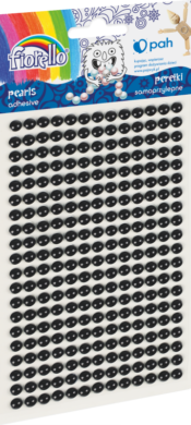 kamínky perličky 170-2576 samolepící černé(5903364282035)