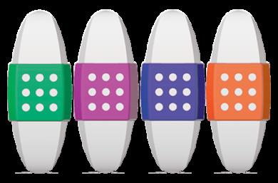 pryž Colorino oboustranná bílá(5907620139811)