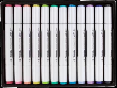 popisovače Colorino Artist oboustranné 12ks pastel(5907620181100)