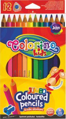 pastelky Colorino trojhranné Jumbo 12ks + ořezávátko(5907690815530)