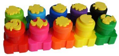 barvy prstové s razítky Colorino 10 barev 18g(5907690818395)