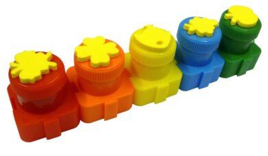 barvy prstové s razítky Colorino  5 barev 18g(5907690818418)