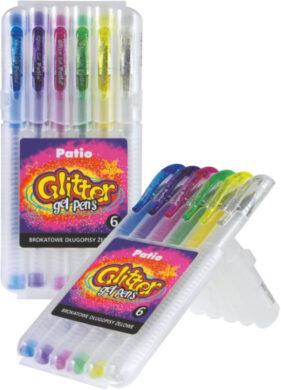 popisovač gel Patio glitter  6ks - tvrzené pouzdro(5907690819392)