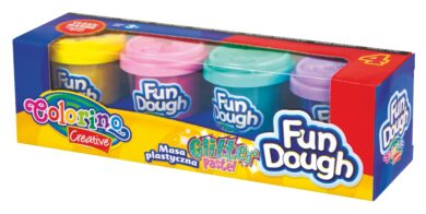 model.hmota Colorino Fun Dough  4x56g Glitter(5907690834326)