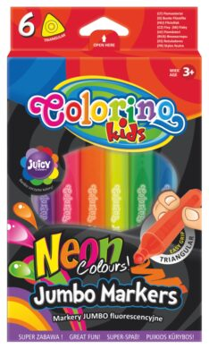 popisovače Colorino trojhranné silné  6ks neon(5907690838881)