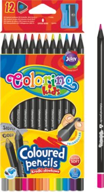 pastelky Colorino trojhranné Black wood 12ks(5907690855796)