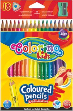 pastelky Colorino trojhranné  18ks + ořezávátko(5907690857431)