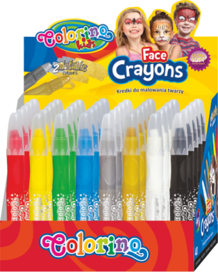barva na obličej Colorino 40ks - stojánek(5907690865689)