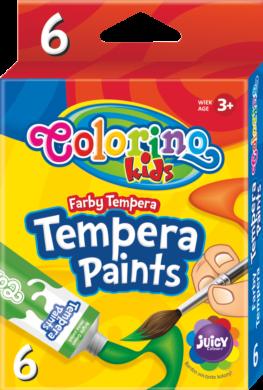 barvy temperové  Colorino 12ml v tubě  6ks(5907690868390)