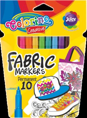 popisovače Colorino na textil 10ks neon(5907690880095)
