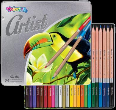 pastelky Colorino Artist 24ks kovová krabička(5907690883263)