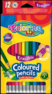pastelky Colorino gumovací 12ks(5907690892531)