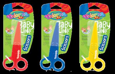 nůžky Colorino dětské celoplastové 12,5cm blistr(5907690892562)