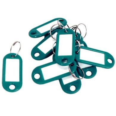 jmenovka na klíče 10ks zelená 009024(5907814633309)