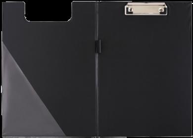 podložka A5 dvojdeska karton/PP s klipem černá 009565(5907814636430)