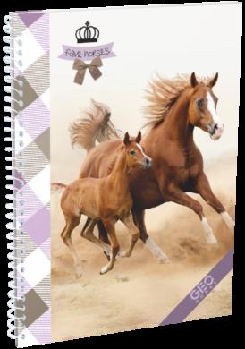 blok A5 70l čtverec spirála bok Geo Horse Two 17009407(5997416500949)