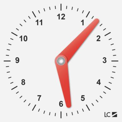 školní hodiny plast.malé 10 x 10cm(5997416518456)