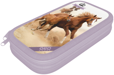 penál 2 patra prázdný Geo Horse Two 17343107(5997416534319)