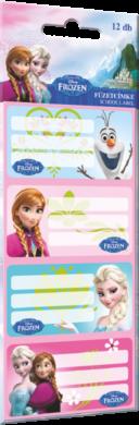 štítky na sešity 12ks Frozen Elsa 15350201(5997416535026)