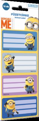 štítky na sešity 12ks Minions 16444614(5997416544462)