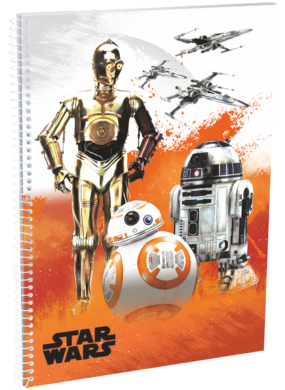 blok A4 70l linka spirála bok Star Wars 7 Robots 16446111(5997416544615)