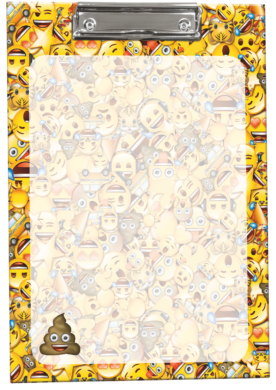 podložka A4 s klipem Emoji Poop 17508901(5997416550890)