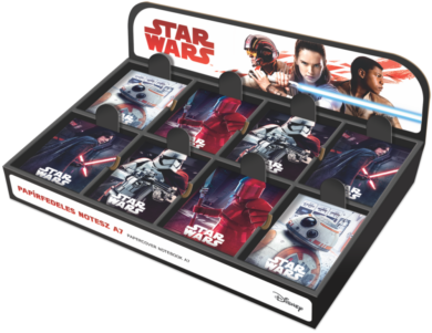 blok A7  display Star Wars 8 mix 80ks 18571410  (5997416557141)