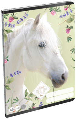 sešit A5 32l linka Wild Beauty White 19657801(5997416565788)