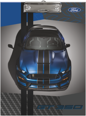 podložka A4 s klipem Ford Mustang Blue 20735303(5997416573530)