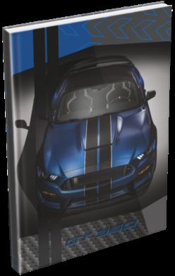 záznamní kniha Lizzy A5 čistá Ford Mustang Blue 20777803(5997416577781)