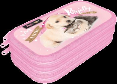 penál 3 patra prázdný Little Friends Pink 20783901(5997416578399)