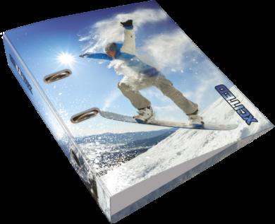 pořadač pákový A4 LIZZY 7,5cm X-cited Snowboard 20799708(5997416579976)