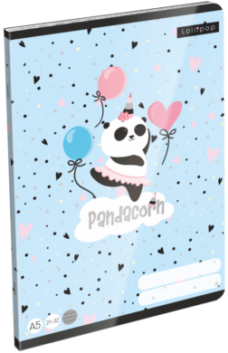 sešit A5 32l linka Lollipop Pandacorn 21869055(5997416586905)