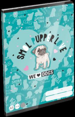 sešit A5 32l linka We Love Dogs Blue 21869201(5997416586929)