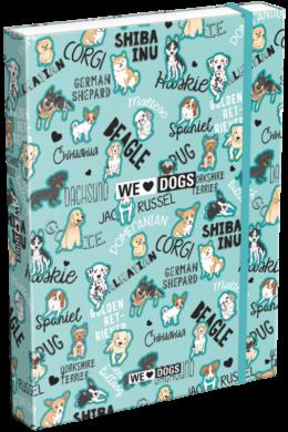 box na sešity A4 We Love Dogs Blue 21871801(5997416587186)