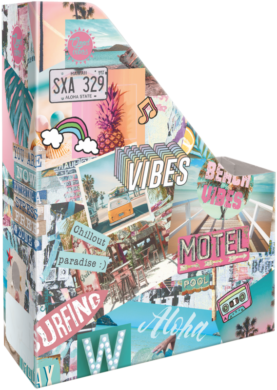 box na sešity skládací A4 Good Vibes Beach 21876711(5997416587674)
