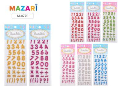 MZ samolepky 3D M-8770 písmena s glitry(640026711113)