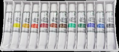 barvy akrylové 12ks 12ml 170-1910(6901893620129)
