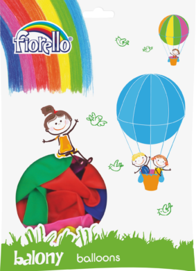 balónky 100ks Fiorello pastel mix 170-1673(6913749996272)