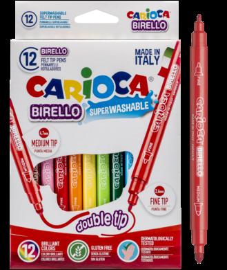 popisovače Carioca Birello 12ks oboustranné(8003511414573)