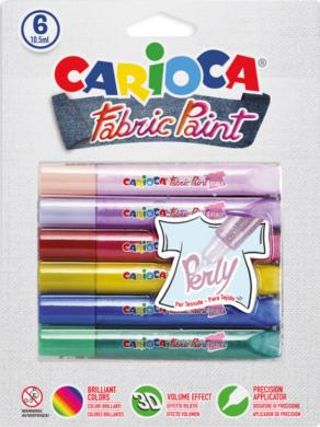 barvy dekorační na textil Carioca 3D pearl(8003511421397)