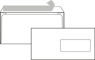 obálka DL-okno samol.s páskou(80046)